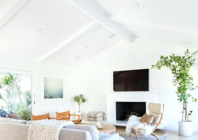 minimalist-mid-century-living-room-with-high-ceilingsdiy-painting-ceilings--ladders
